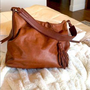 Margot soft brown leather shoulder bag